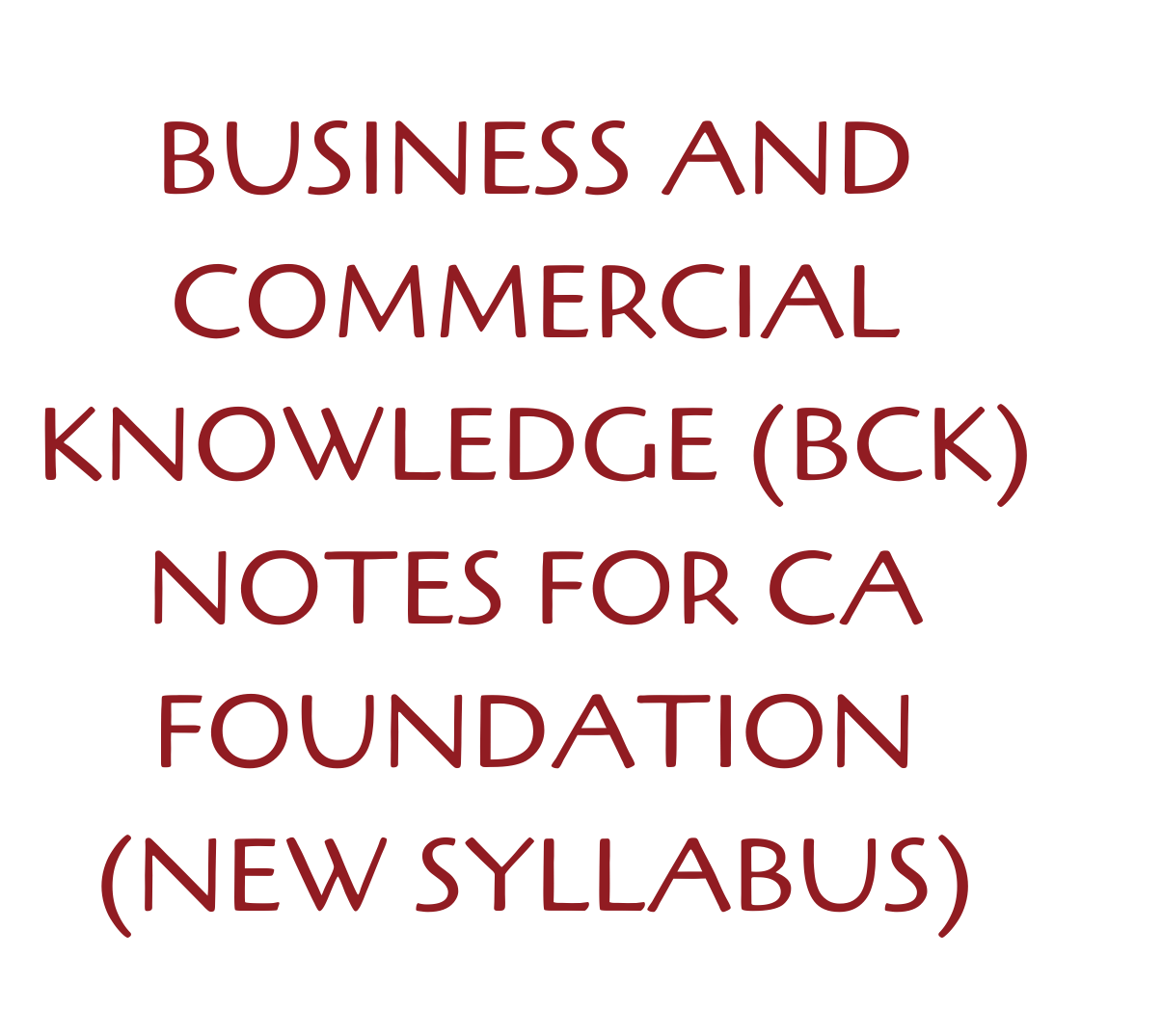 Business and Commercial Knowledge
