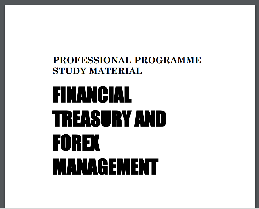 FINANCIAL TREASURY AND FOREX MANAGEMENT