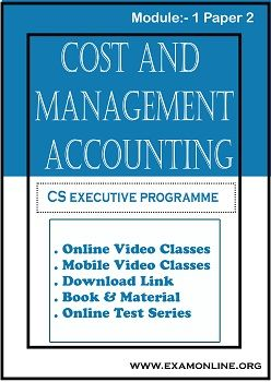 CS EXE -Cost and Management Accounts