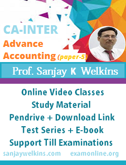 Advance Accounting Video Class by Sanjay Welkins