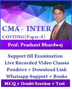 CMA Inter Costing by Prashant Bhardwaj